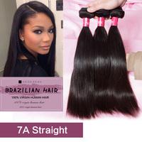 6A Brazilian Virgin Hair Straight 3Pcs Lot Rosa Hair Products Remy Human Hair Unprocessed Virgin Brazilian Hair Weave Bundles
