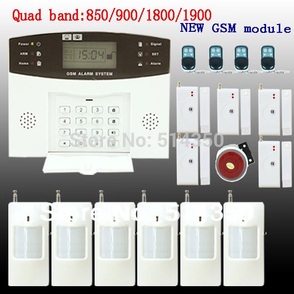 GSM SMS Home Burglar Security Alarm System Detector Sensor Kit Remote Control Russian lanuage support(China (Mainland))