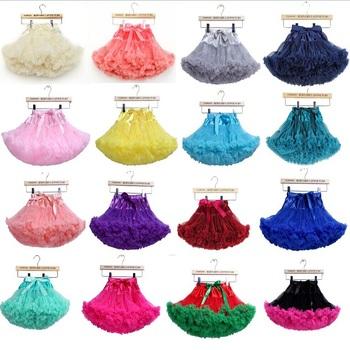 Детские девушки шифон пушистые pettiskirts пачка принцесса ну вечеринку юбки одежда для танцев 12Mo-8 ю . с . 20 цвета бесплатная доставка