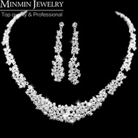 2014 New Free Shipping Crystal Bridal Wedding Jewelry Sets African Jewelry Set Necklaces Earrings Fashion Jewelry 0122