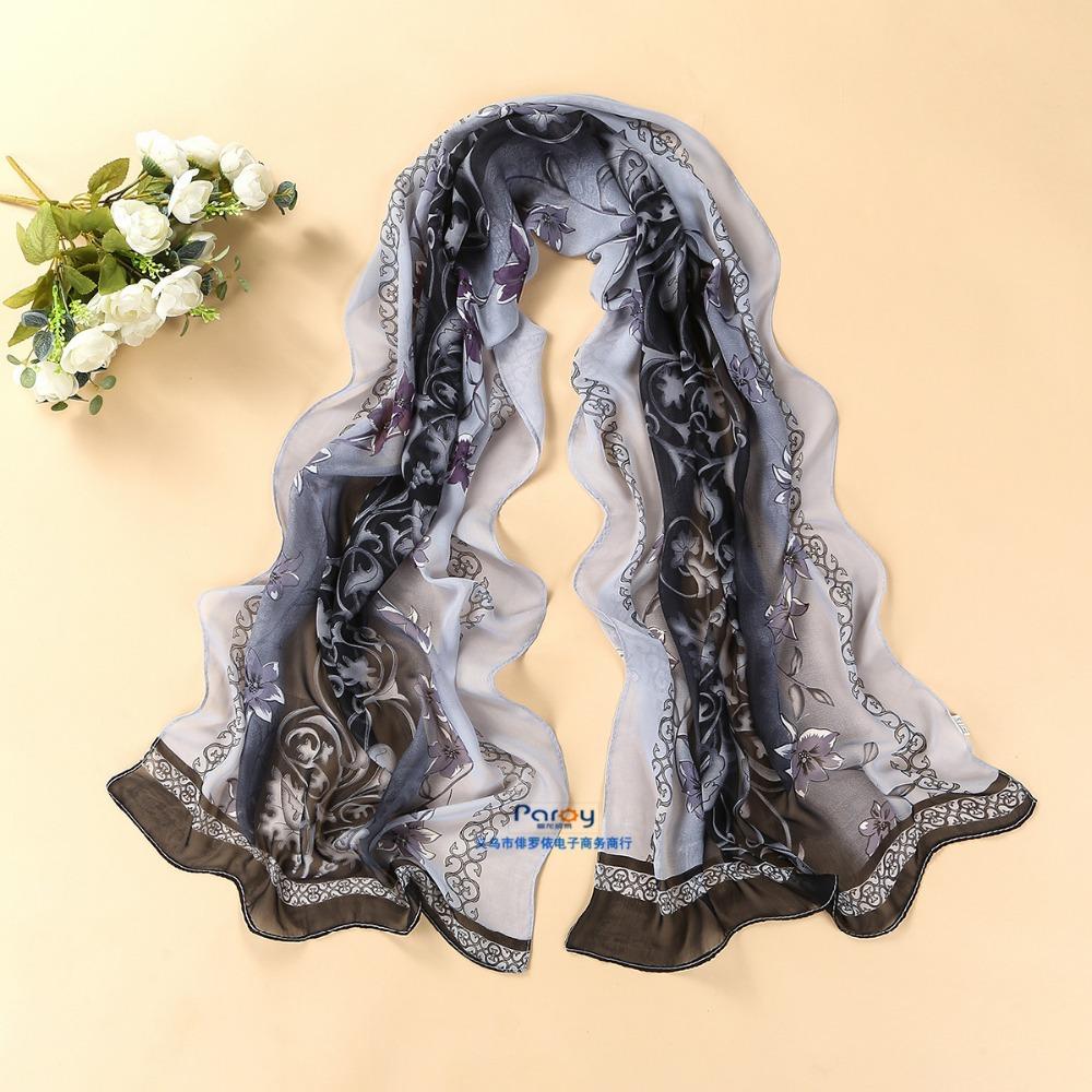 women scarf fashion pashmina 2014 new design long shawl cape silk chiffon tippet muffler echarpes Scarves PG-011(China (Mainland))