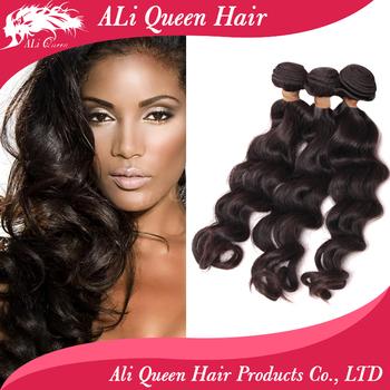 Virgin Malaysian Hair Natural Wave/ More Wave 3Pcs Lot Natural Black Unprocessed Human Hair Bundles