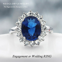 Neoglory Charm Princess Kate Designer Crystal Rings for Women Rhinestone Wedding Jewelry Accessories Wholesale 2014 New