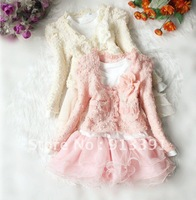 New hot new 2013 Spring and Autumn Period, the Korean girls lace suit, dress, Free Shipping