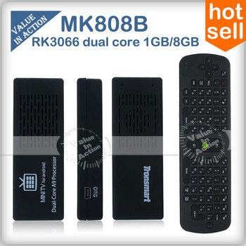 [ Бесплатный RC11 Air Mouse Keyboard ] Оригинальный MK808B Android 4.2 Mini PC RK3066 Dual Core Придерживайтесь ТВ Dongle MK808 Bluetooth России
