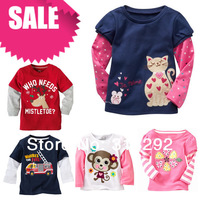 LT1, 1PC, Baby Children T shirts, 100% Cotton long sleeve cartoon top for 12M to 6Y.