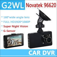 "Car DVR Recorder , Car Black Box G2W with 3.0"" LCD + Full HD 1080P + Wide Angle 170 Degrees + G-Sensor + H.264 + Free Shipping"