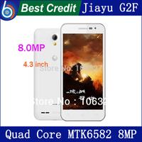 "Gifts Jiayu G2F 3G MTK6582/MTK6582M Quad Core 1.3Ghz 4.3"" Screen 1G RAM 4G ROM 2MP+8MP Camera Gorilla Glass JIAYU Cell phone/Eva"