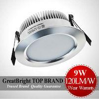 factory price 3PCS/LOT 9W led downlight lamp dimmable + indimmable AC85-265V 110V 120V 220V 240V 5year Warranty : TDA09