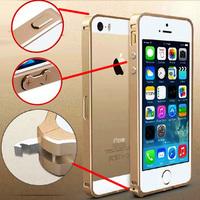 5S No screw 100% Original Aluminum Bumper Case Cover for iPhone 5s 5 Metal Frame Phone bags cases + Free screen protector