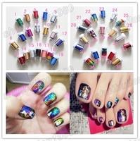 Free Shipping 2014 New Hot Sells 10 Pcs Multicolored  Galaxy DIY Nail Sticker Nail Art Foil Nail Art  Decoration