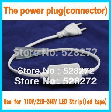1PC Free Shipping,SMD5050/3528 Flexible LED strip power plug (Connector) 220-240V led tape U.S/ EU plug(China (Mainland))