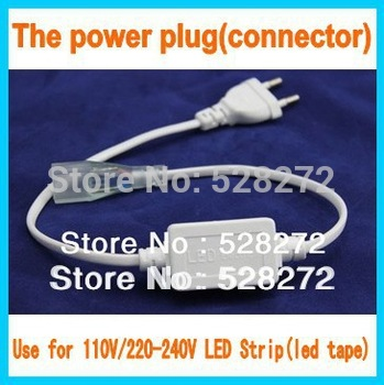 1pcs SMD5050/3528 Flexible LED strip Connector 110-120V or 220-240V led tape U.S/ EU plug