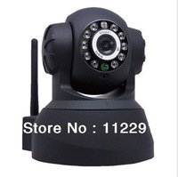 New Plug&Play Wireess IP Video Camera Alarm Dome Dual Audio IR Night Vision PanTilt CCTV Security Webcam Free Shipping