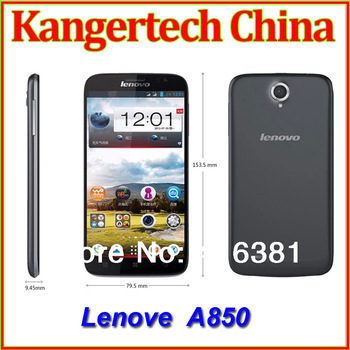 100% Original Lenovo A850 MT6582m Quad Core Phone 5.5 inch IPS Android 4.2 1GB 4GB Multiple Languages Russian In Stock