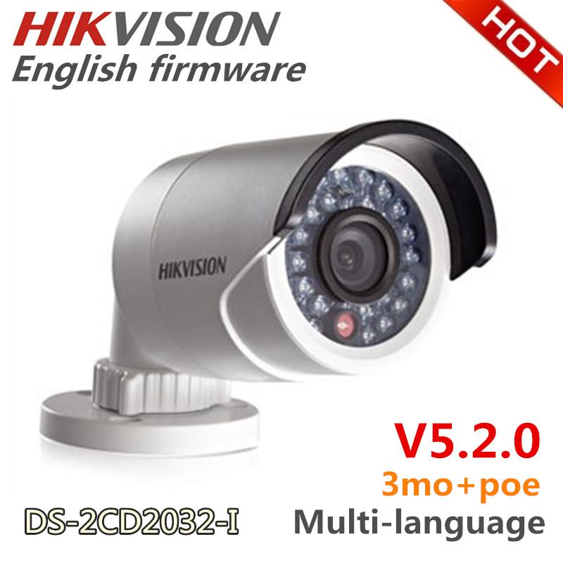 DS-2CD2032-I Hikvision camera,3MP Mini Bullet Camera W/3D DNR&DWDR&BLC,Network IP camera w/IR and IP66,CCTV Camera(China (Mainland))