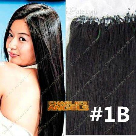 16 Inch Black Human Hair Extensions 93