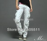 Hottest matchstick 100% cotton women's cargo pants yogo dancing trousers 2036
