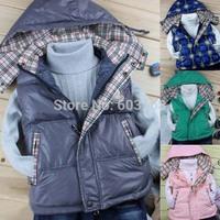 2014 Excellent Fine Vogue Eider Duck Down Vest Jacket Children's Outerwear Vests & Waistcoats[iso-14-4-30-A2]