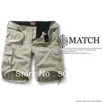 Match men's solid color cargo short multi pockets summer shorts SZ 38 40 42 44 #S3620
