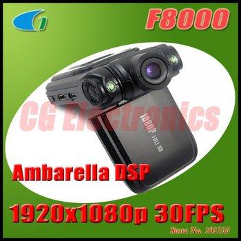 """100 % оригинал F8000 5.0MP Мини Full HD 1920x1080p 30FPS Портативный автомобилей видеокамера ж / 2,0 """" LCD / 2 - СД / 120 градусов Объектив / HDMI"""
