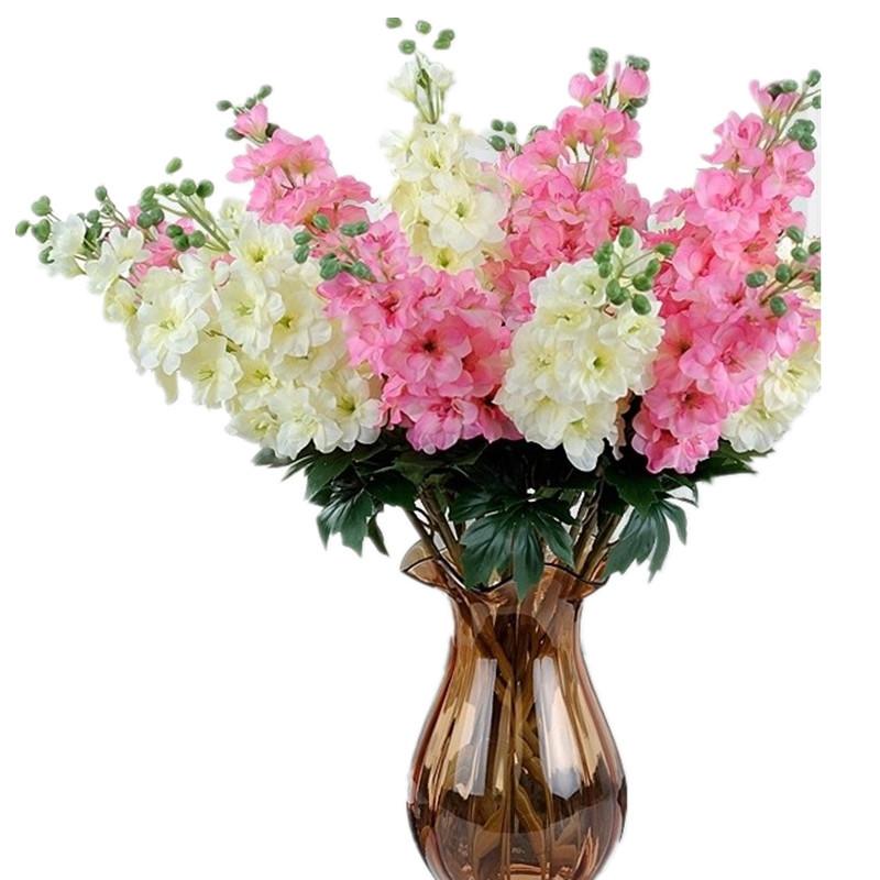 Wholesale silk flowers for weddings delphinium decoratio for Artificial flowers decoration images