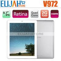 "Original 9.7"" Onda V972 Quad core Tablet PC 2gb Ram 32gb Memory Allwinner A31 Retina IPS Camera 5.0MP HDMI Android 4.1 MID"