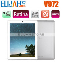"Original 9.7"" Onda V972 Quad core Tablet PC 2gb Ram 32gb Memory Allwinner A31 Retina IPS Camera 5.0MP HDMI Android 4.1 MID"