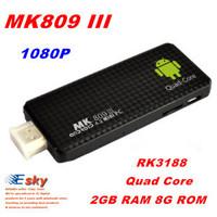 Quad  Core MK809 III RK3188  U32  TV Box Dongle 2G RAM 8G ROM Android 4.2.1 HDMI WiFi Bluetooth