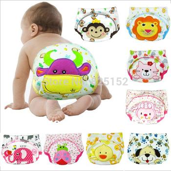 Free shipping 1PCS Baby  boy girl newborn nappy infant toilet pee potty training pants Washable Cloth diaper Underwear Reusable