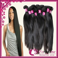 Forawme Brazilian Virgin Hair Straight Hair Weave Mixed Lengths 3 pcs Lot 5A 1b Black Unprocessed Brazillian Hair Extension