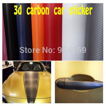 Matte Vinyl 127cm*30 cm film High Quality car styling  , Free shipping 3D  car sticker Carbon Fibre Vinyl Sheet