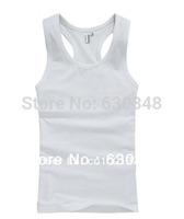 Man Body-building Sports Undershirt Solid Colours Trendy Cotton Close-fitting Undershirt High Strength Fabric Man Vest