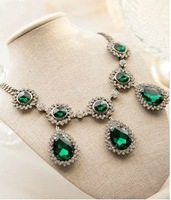 necklaces & pendants necklaces 2013 women earrings necklace women men jewelry sets Luxurious emerald necklace vintage Sou palace