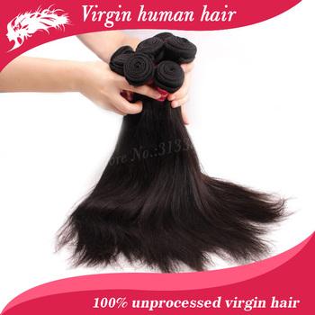"Free shipping.10pcs/ lot  8""-34""  wholesale virgin brazilian hair extension  brazilian straight hair"