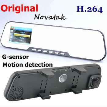 Car DVR Camera FHD1080P H.264 Rearview Mirror Camera DVR G-sensor Motion Detection Original Novatek CPU Car Camera Recorder dvr