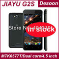 white In stock Jiayu G2S phone Android 4.1 MTK6577T GPS WIFI 4.0 inch ogs IPS 950*540 dual core 1.2GHZ 1GB 4GB russian 2200mah