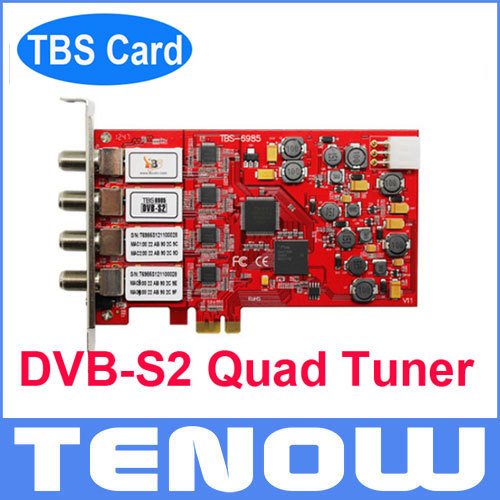 Best Selling TBS Card TBS6985 DVB-S2 Quad Tuner TV Card TV Tuner Receiver, Watch Satellite TV Freesat TV on PC(China (Mainland))