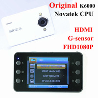 Car Camera DVR Original Novetak K6000 Full HD1920*1080P +G-sensor+HDMI+9712 Sensor 2colors Black box Dashboard Vehicle Camcorder