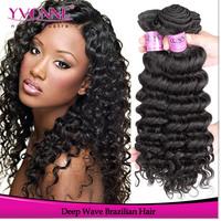 Deep Wave Virgin Brazilian Hair,3Pcs Cheap Brazilian Human Hair Weft,12-28Inches Aliexpress Yvonne Hair,100% Unprocessed Hair