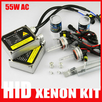 Fast Shipping Xenon 55W hid conversion kit AC Ballast Ignition 9004 9005 9006 9007 H1 H3 H4 H7 881 H8 H10 H11 H13 55w HID KITS