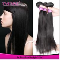 3Pcs/lot Virgin Brazilian Straight Hair Weave,Grade 5A Unprocessed Human Hair,12-28Inches Aliexpress Yvonne Hair