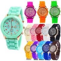 Hot sale Fashion wristwatches Ladies brand silicone jelly watch quartz watch for women men TOP Quality dress watch SV001155 B003