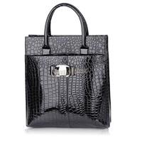 Women 2 Styles leather Handbag Luxury OL Lady Zipper Tote Shoulder Bag Black and Red B19 19068