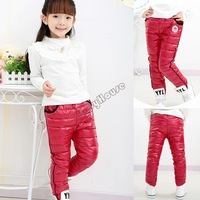 Hot Sale! 2014 New Arrival Baby Boy Girls Kids Winter Pants Down Wind Proof Hot Velvet Plus Infant And Thicken warm pants b4