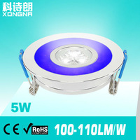 Free Shipping, AC85~265V, 5W LED Ceiling Light with (Red/Green/Blue/Yellow Etc.) Emitting Frame+Warm White/Cold White