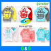 In Stock $8.9/set promotion cream color 369 short sleeve hoodies+pants children summer clothing set baby suit free shipping