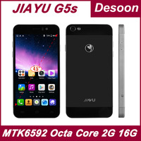 In Stock!Brand Jiayu G5 G5s cell phones MTK6589T/MTK6592 Octa Core 2GB RAM 16GB Rom Gorilla glass ips russian black/Koccis