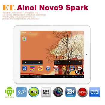 "Original de Ainol NOVO9 Firewire Spark Quad core tablet pc 9.7 "" IPS Retina Screen 2048 x 1536 pixels Allwinner A31 2 GB RAM 16 GB"