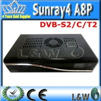 2 pieces/lot Sunray4 sr4 A8P for 800hd se SR4  with Triple tuner SIM A8P security card 300Mbps WIFI DHL Free Shiiping